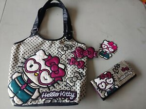 Rare Loungefly Hello Kitty Purse Tote And Wallet Set