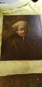 Edgar Kooi After Rembrandt Painting Old Oil Painting Antique on canvas $200.00