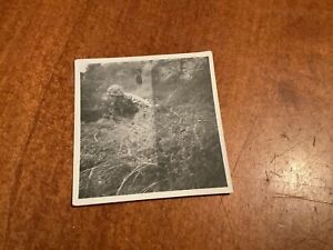ORIGINAL WWII GI Photo Of Soldier With Full Camouflage Uniform