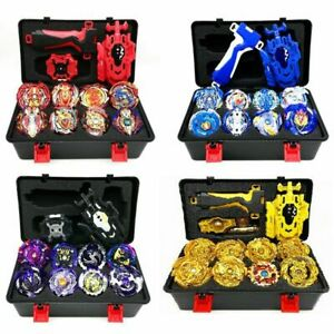 8Pcs Beyblade Gold Burst Set Spinning With Grip Launcher Portable Box Case Toys $28.40