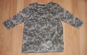 Womens camo camouflage shirts shirt bunched in front S.MLXL very soft