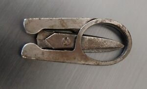 Vintage steel sewing folding scissors with slightly curved blades $6.99