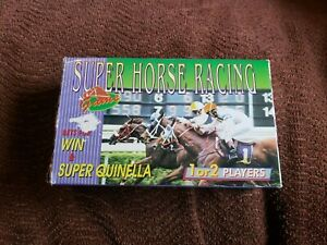 SUPER HORSE RACING ELECTRONIC HANDHELD TRAVEL LCD GAME MINT w BOX MANUAL BATTS $99.99