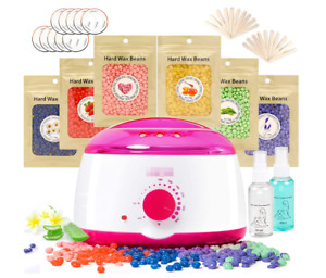 Waxing Kit ,wax Warmer With 6 Flavors Hard Wax Beans 21.2oz)hair Removal Kit P $27.99