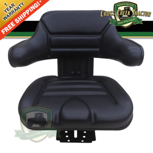 Black Universal Tractor Seat With Full Suspension and Adjustable Angle Base $109.98