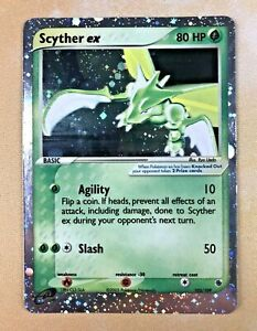 Pokemon Scyther Ex 102 109 Ruby And Sapphire Holo Card Near Mint NM