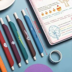 5pcs 3 in 1 Multifunction Retro Color Gel Pen Creative Ruler Cartoon Bookmark $5.98
