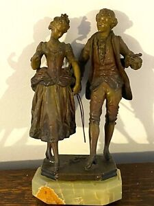 Antique French Rouncoule L. Metal grope 'lady amp; Musician' from 19 century. $145.00