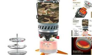 SOLO Backpacking Camping Propane Stove Outdoor Portable Camp Gas Stoves Camo