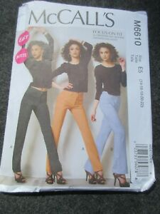 McCall#x27;s Easy Sewing Pattern M6610 Petite Jeans Size E5 14 22 uncut $6.99