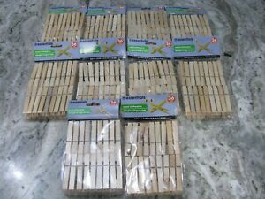 360 COUNT Wood Clothespins Wooden Laundry Clothes Pins Large Springs Regular NEW $22.95