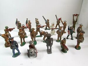 23 Barclay Manoil Soldiers Army WWI Lot Lead Figure Toy Vintage Collection