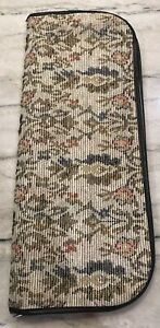 Tapestry Floral Knitting Case w Needles Circular Knit Chek Double Point Huge Lot $49.98