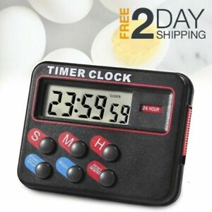 Digital Timer Kitchen Eggs Cooking Magnetic Countdown Stopwatch Counter 24 Clock