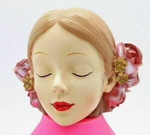 Girls Face Rose Flower Head Silicone Mold Soft Molds for Resin Concrete Art DIY