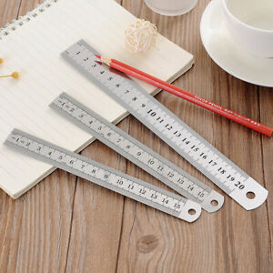 Sided Sewing Metal Ruler Measuring Tool Architect Supplies Straight Ruler C $3.88