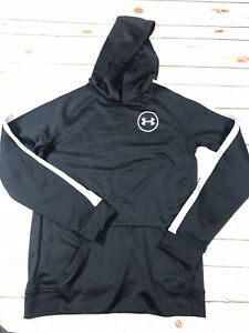 Under Armour Hoodie Boys Size Youth XL Black Pullover Sweatshirt Front pocket $18.00