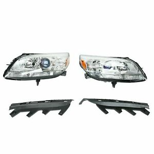 LEFTRIGHT Projector Headlights For 2013 2015 Chevy Malibu Replacement Halogen $354.74