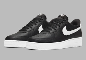 Nike Air Force 1 #x27;07 Leather Shoes Black White CT2302 002 Men#x27;s Multi Size NEW $114.90