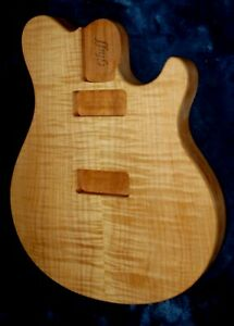 EB STYLE 1 PC MAHOGANY BODY BOOKMATCHED MAPLE TOP FITS A STRAT STYLE NECK $295.00