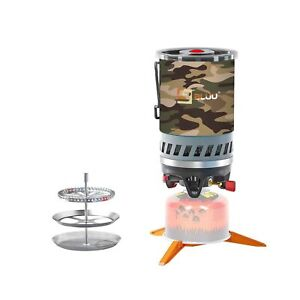 BLUU SOLO Backpacking Camping Propane Stove Outdoor Portable Camp Gas Stoves...