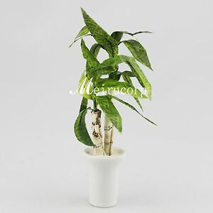 miniature green plant for 1 12 scale dollhouse furniture decoration $6.99