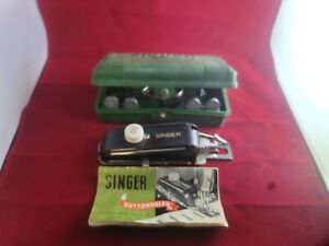 1948 Vintage Singer Sewing Machine Buttonhole Attachment Kit #160506 in Case $19.99