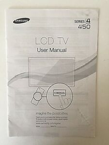 Samsung LED TV Series 4 450 USER MANUAL FACTORY ISSUED