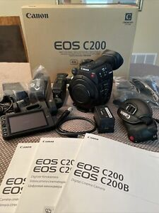 MINT CANON C200 With All Accessories amp; 256gb CFast Card Less Than 200 Hours $4150.00