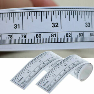 Self Adhesive Metric Measure Tape Vinyl Silver Ruler For Sewing Stickers I5M2 C $1.55