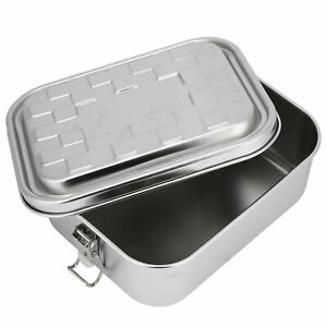 Single Layer Food Grade 304 Stainless Steel Lunch Box Food Bento Container