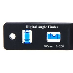 0 200° Angle Finder Angle Finder Digital Protractor LCD Display High Quality C $17.08