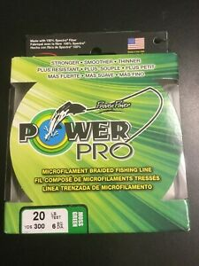 Power Pro 20lb test =6lb Fishing Line in Color MOSS GREEN #1368