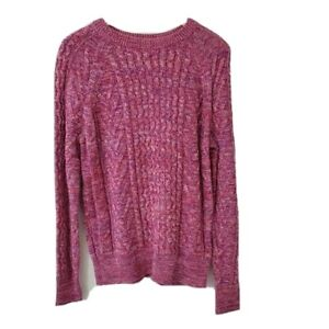 Gap S Womens Marled Textured Chunky Cable Knit Pullover Sweater Multicolor $29.66