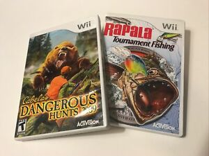 Wii Hunting Fishing Rapala Tournament Cabela's 2009 CIB Complete In Box