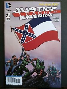 Justice League Of America #1 Mississippi Variant DC Comic Confederate Flag VF