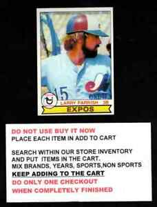 1979 TOPPS BASEBALL #601 TO #726 SELECT CARDS FROM OUR LIST