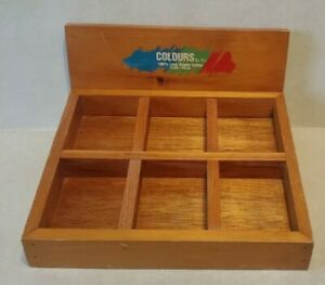 Colours By YLI Sewing Spools Thread Solid Wood Store Display Box Holder Tray $100.00