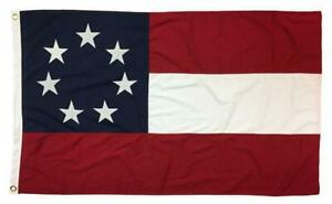 1st National Confederate Flag 2#x27;x3#x27; Sewn Cotton 7 Stars HIGH QUALITY NEW
