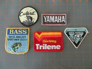Lot of 5 Vintage Fishing Patches