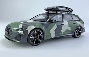 1 18 Audi RS6 Avant Camouflage With Roof Box CLDC014