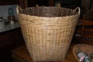 Early Large antique basket 15.6quot; tall 18quot;wide $125.00