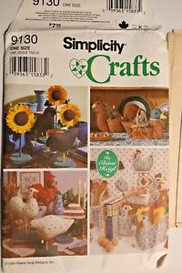 Assorted Sewing Pattern Chickens Roosters Crows Birds Soft Sculpture You Choose $9.99