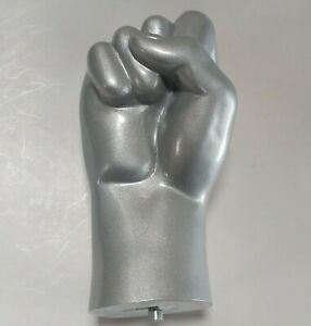 SILVER RIGHT Male Mannequin Hand Display Closed Fist Large Hand $25.00