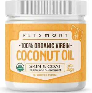 Petsmont Organic Coconut Oil for Dogs Skin and Coat Virgin Coconut Oil for Dogs