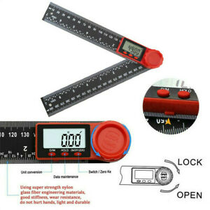 Electronic LCD Digital Angle Finder 8quot; Protractor Gauge Ruler With Batteries $12.89