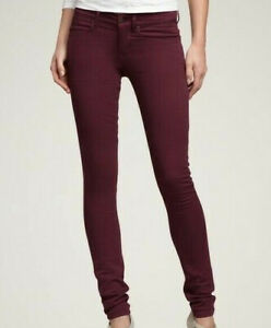 NWT American Eagle Low Rise Jegging Jeans Burgundy Women#x27;s Size 6 HW9942