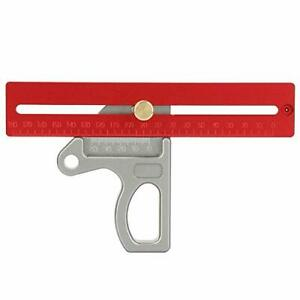 Right Angle Ruler Short Woodworking Right Angle Aluminum Alloy Ruler 45 90 $19.24