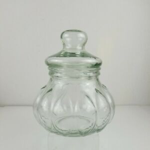Apothecary Jar Lidded Green Glass Biscuit Jar Made In Italy