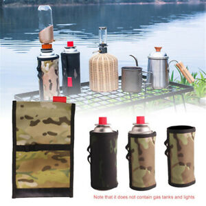 Gas Canister Cover Protector Camping Fuel Cylinder Storage Bag Outdoor Camping